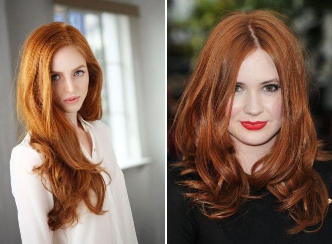 модное рыжее окрашивание волос
