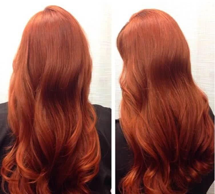 окрашивание волос рыжее