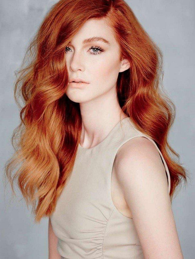 модное окрашивание волос рыжее