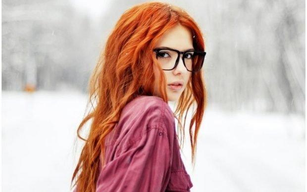 приглушенно-рыжее окрашивание волос
