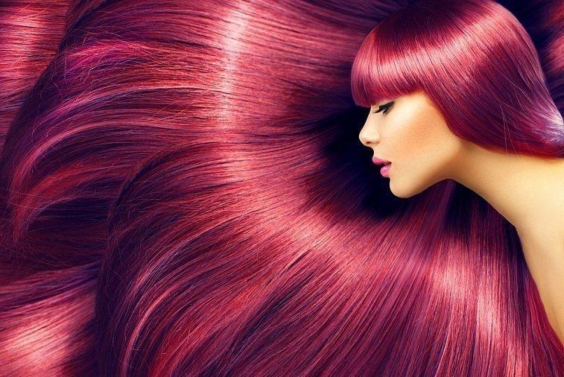3d окрашивание на длинные волосы бордовое