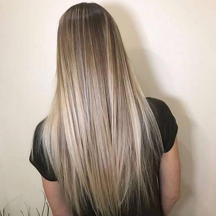 3d окрашивание на длинные волосы светлое с серым