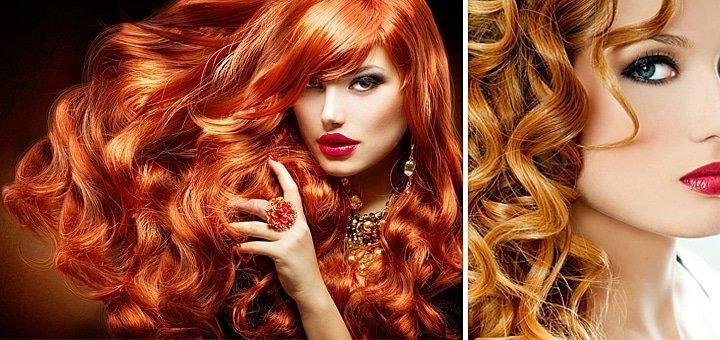 3d окрашивание на длинные волосы рыжее