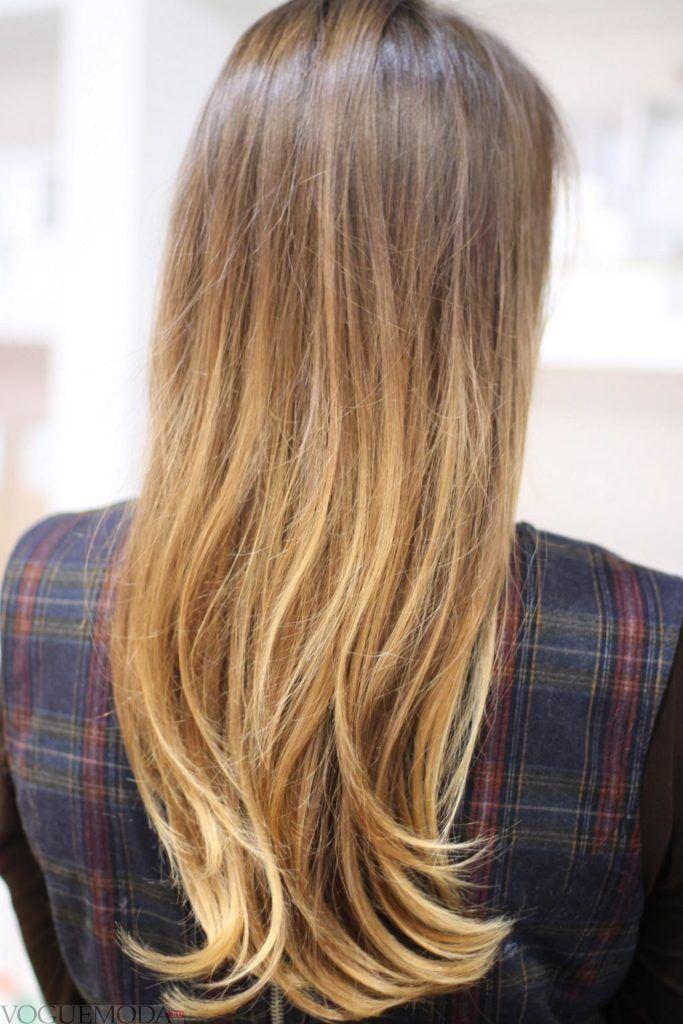 русые волосы длинные