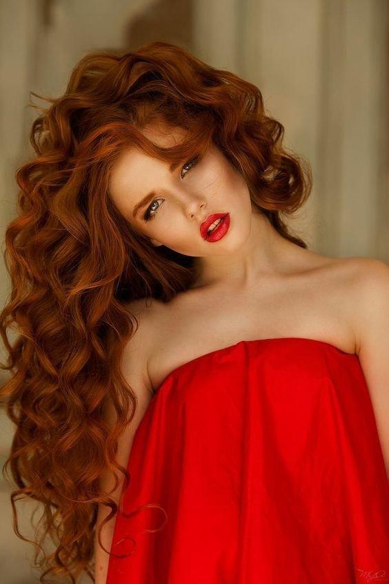 окрашивание в приглушенно-рыжий красивое