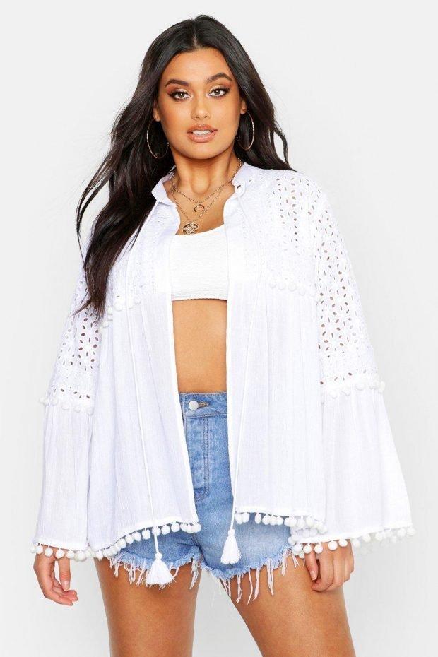 белая в виде рубашки