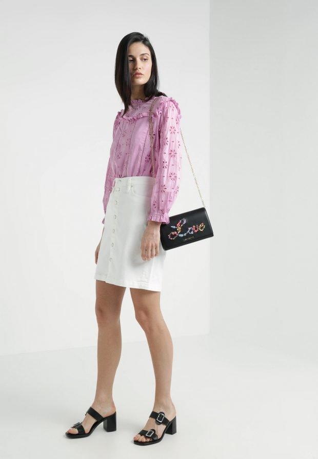 розовая блузка под юбку