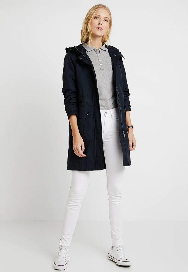 модные луки 2019 2020: черная куртка