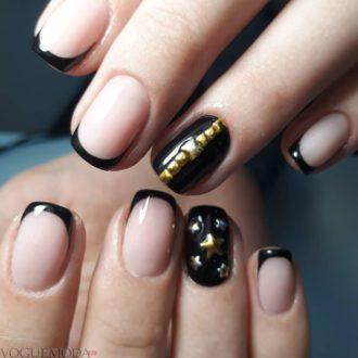 черный френч с золотом