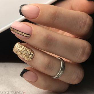 черный френч с золотом блестящий
