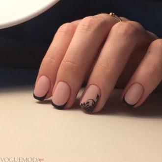 френч на коротких ногтях каждодневный