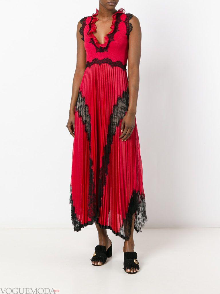 новогоднее платье красное