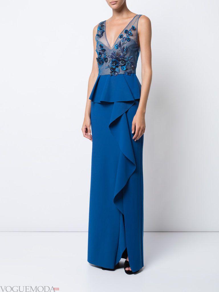платье с декором цветное