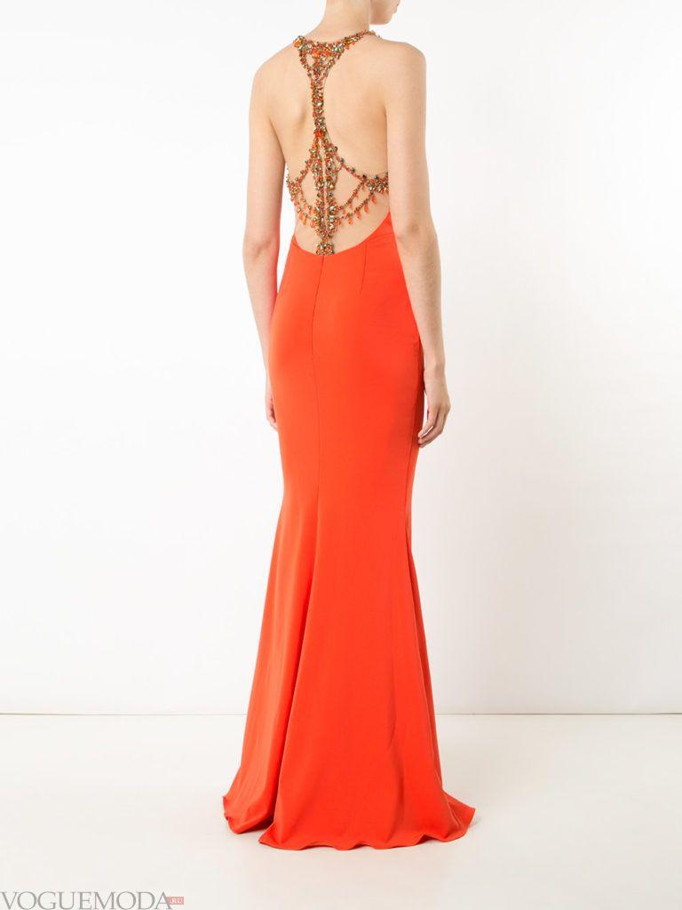 платье с декором яркое