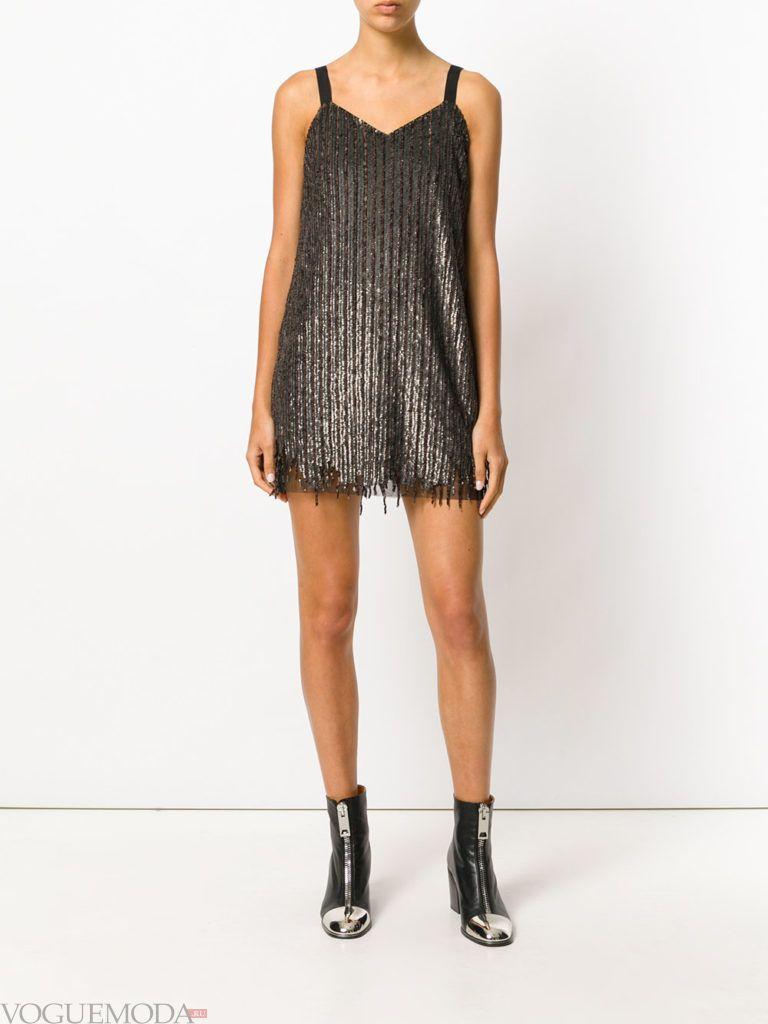 коричневое платье короткое