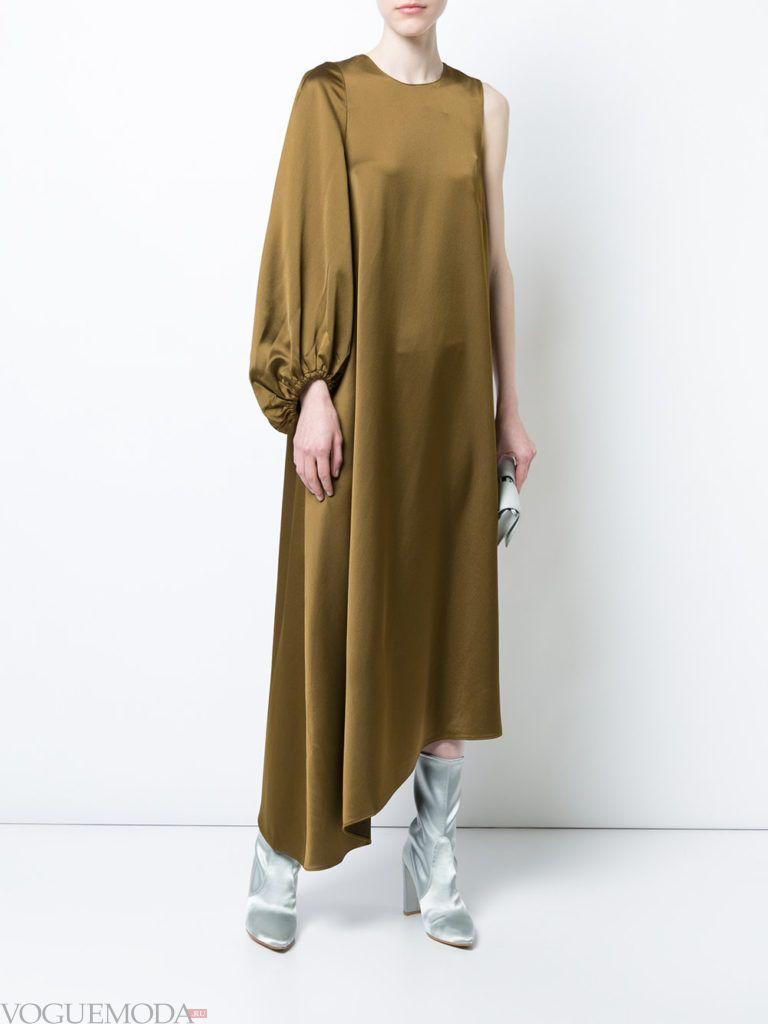 новогоднее платье шелковое