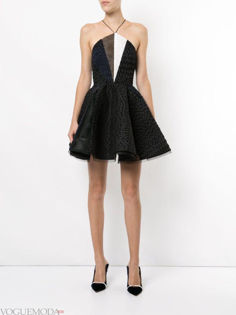 новогоднее платье с пышной юбкой короткое