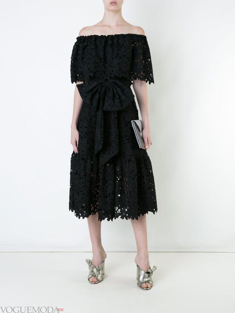 платье с пышной юбкой кружевное