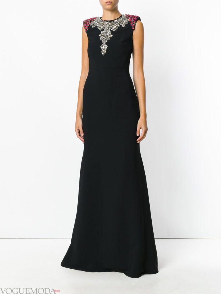 платье со стразами длинное
