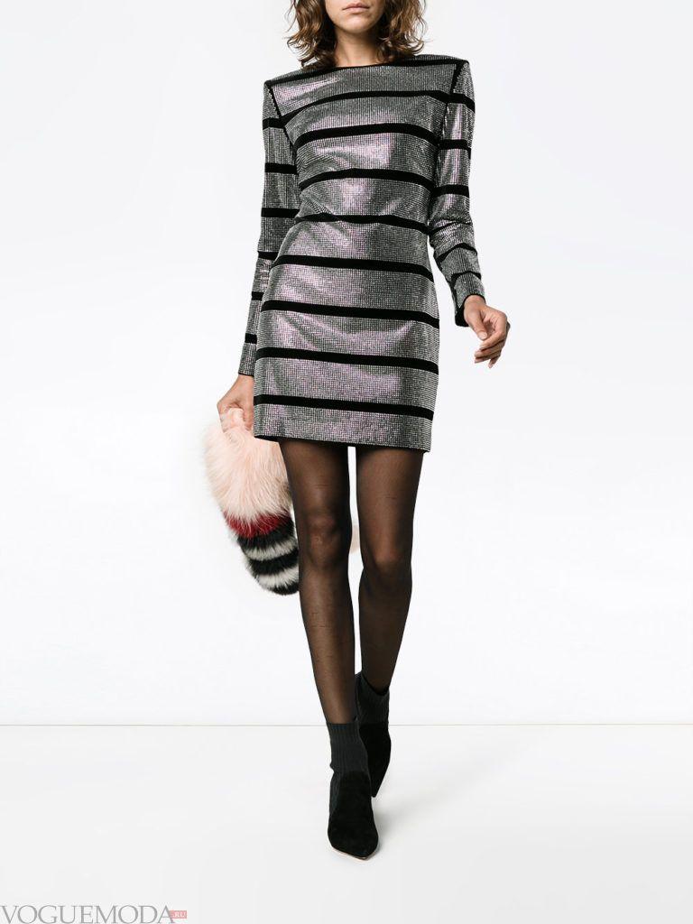 новогоднее платье со стразами короткое
