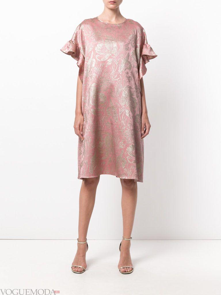 новогоднее платье нежного розового оттенка