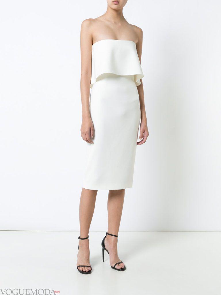 новогоднее платье нежного белого оттенка