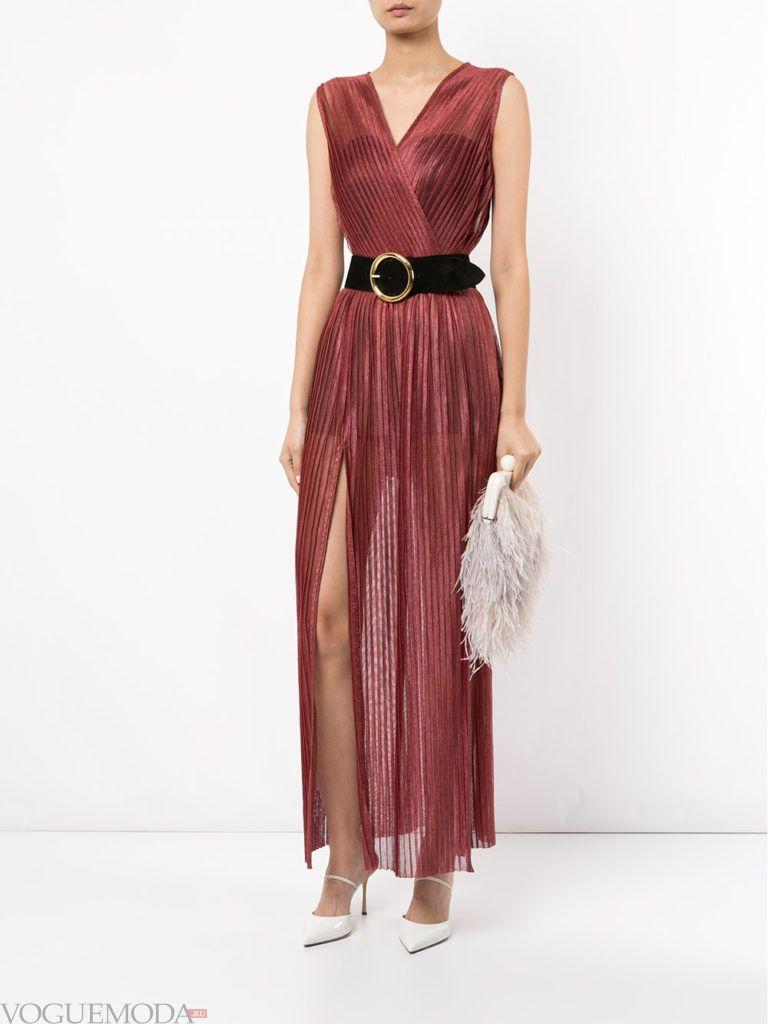 новогоднее платье с поясом