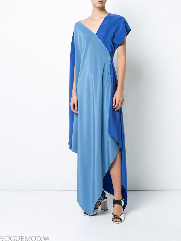 новогоднее платье синее