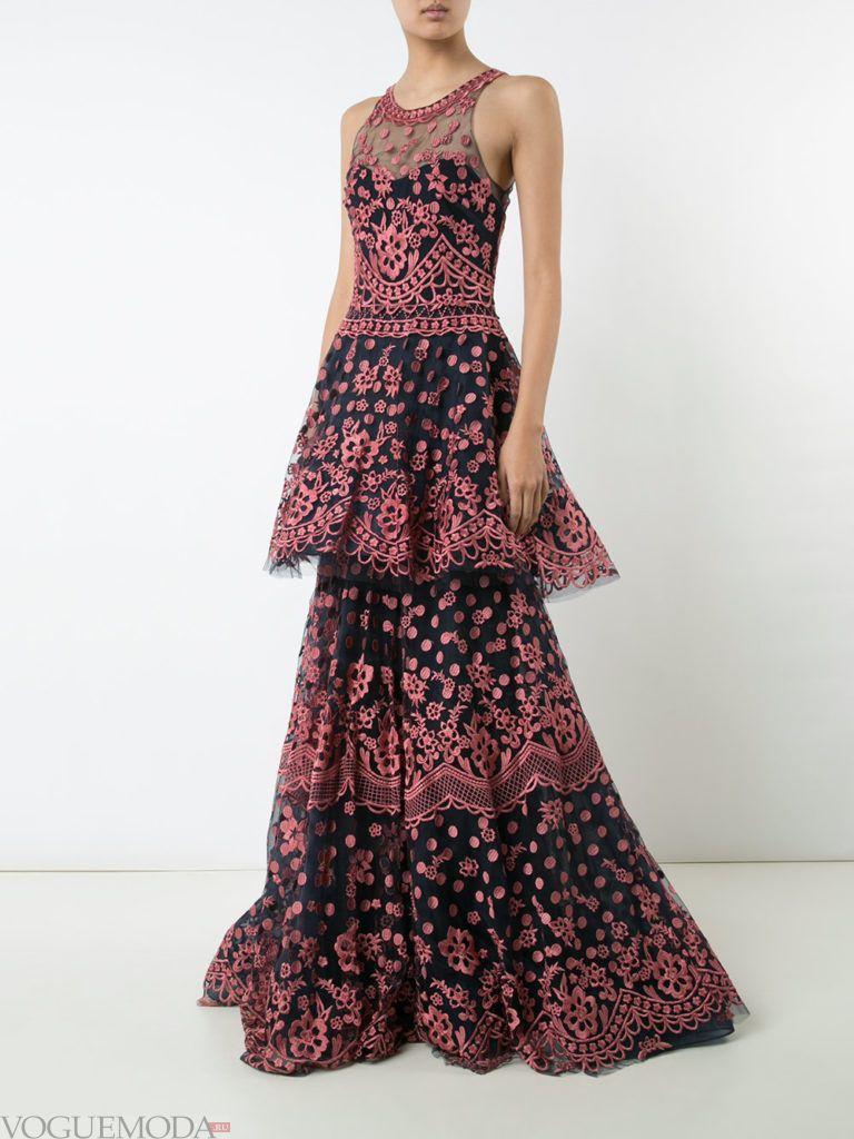 платье многослойное