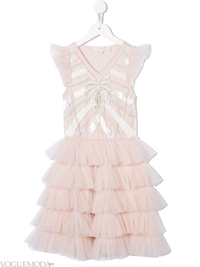 новогоднее розовое платье для девочек