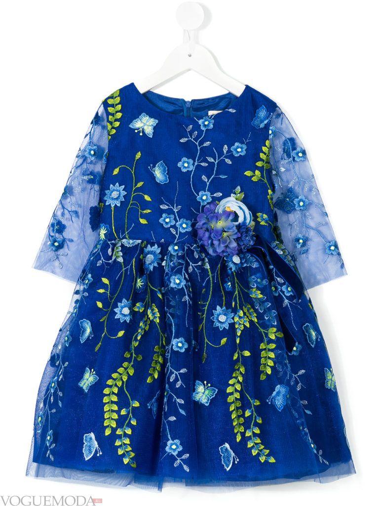 новогоднее яркое платье для девочек