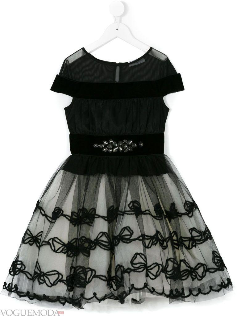 новогоднее черное платье для девочек