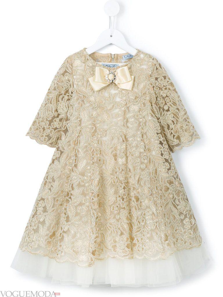 новогоднее кружевное платье для девочек