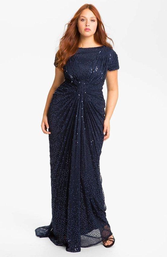 платье для полных темное