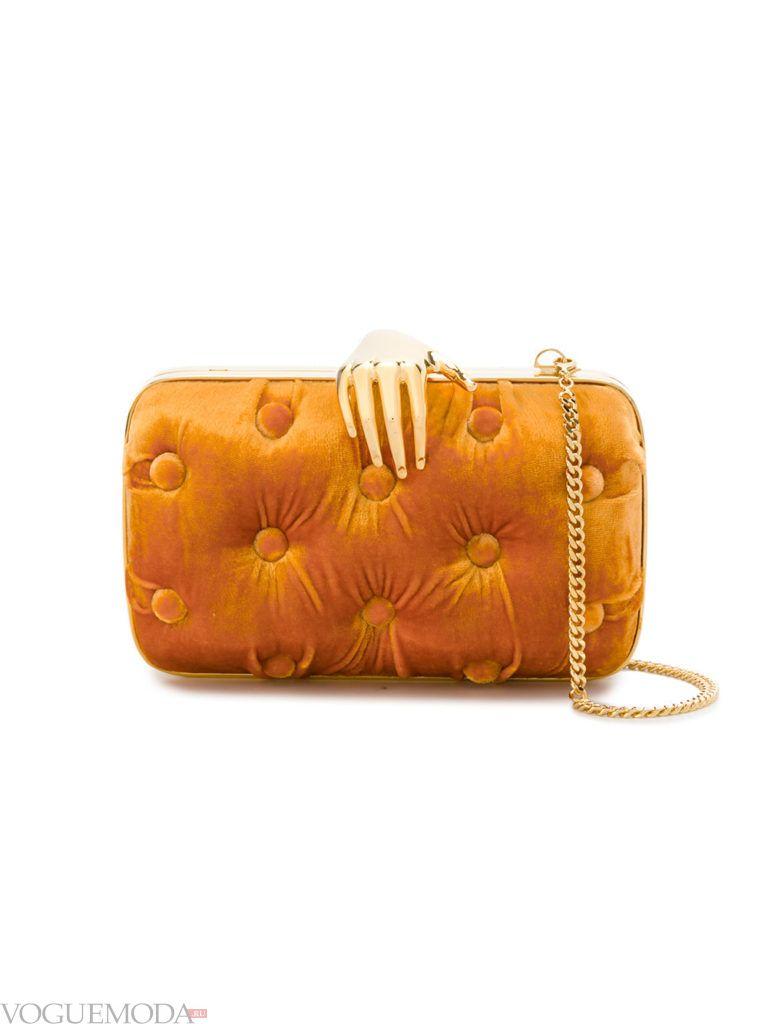 новогодняя бархатная сумочка