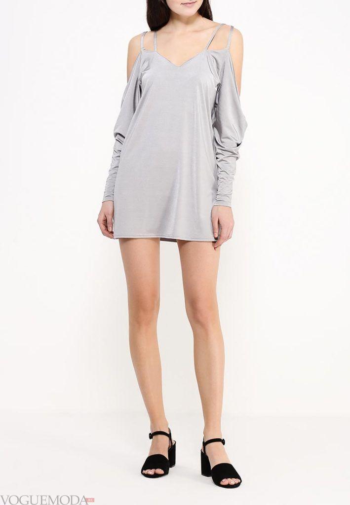 туника мини-платье светлая
