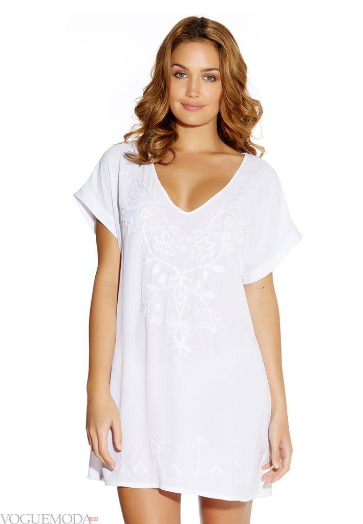 мини-платье белая