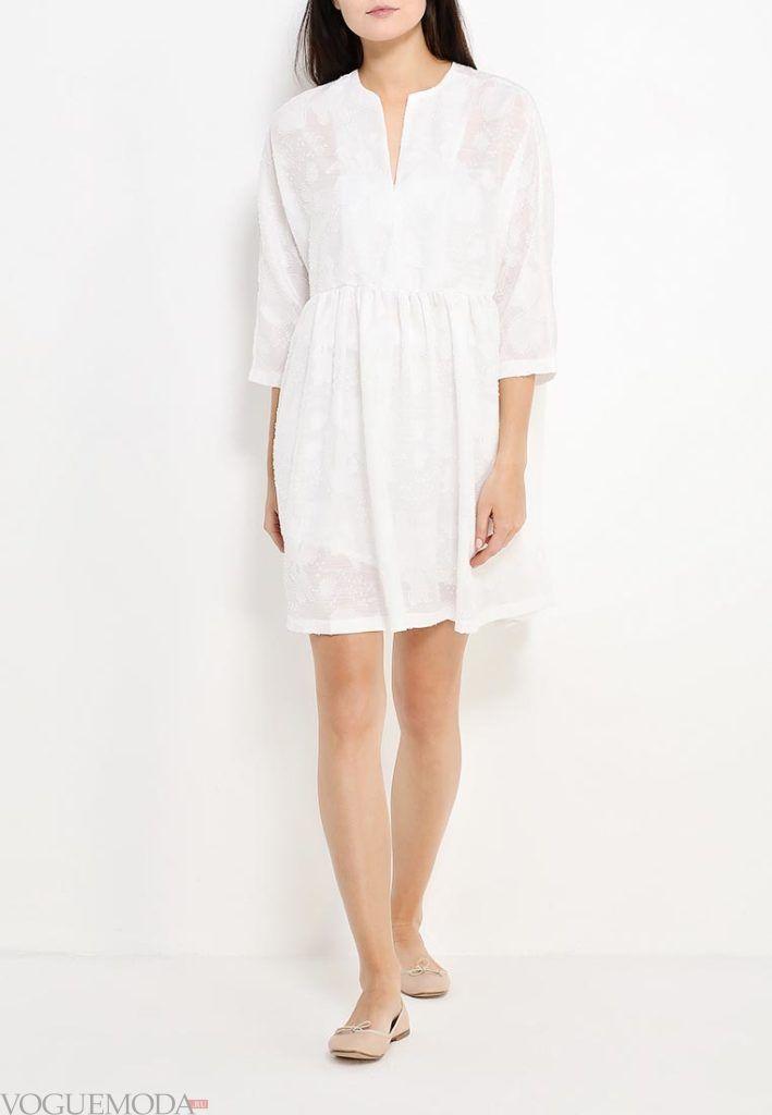 туника платье белая