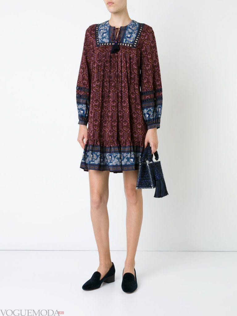 туника платье с принтом