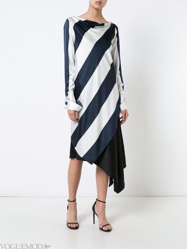 туника платье в полоску