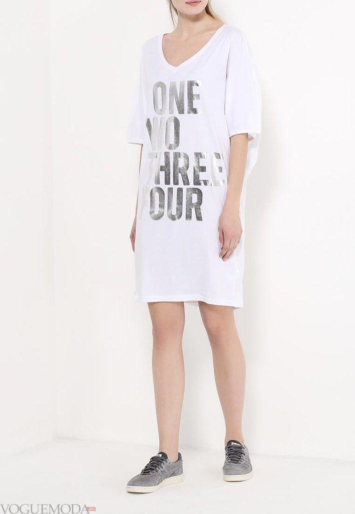 туника платье с надписью