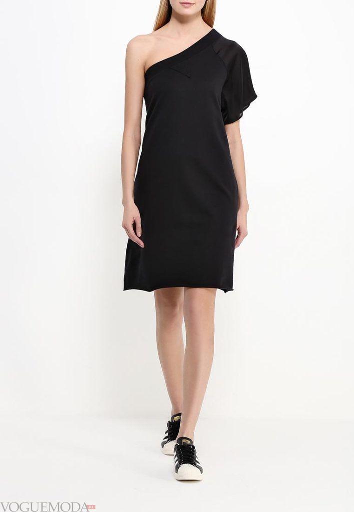 туника платье черное