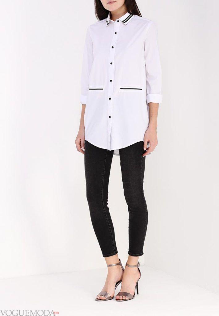 туника-рубашка белая