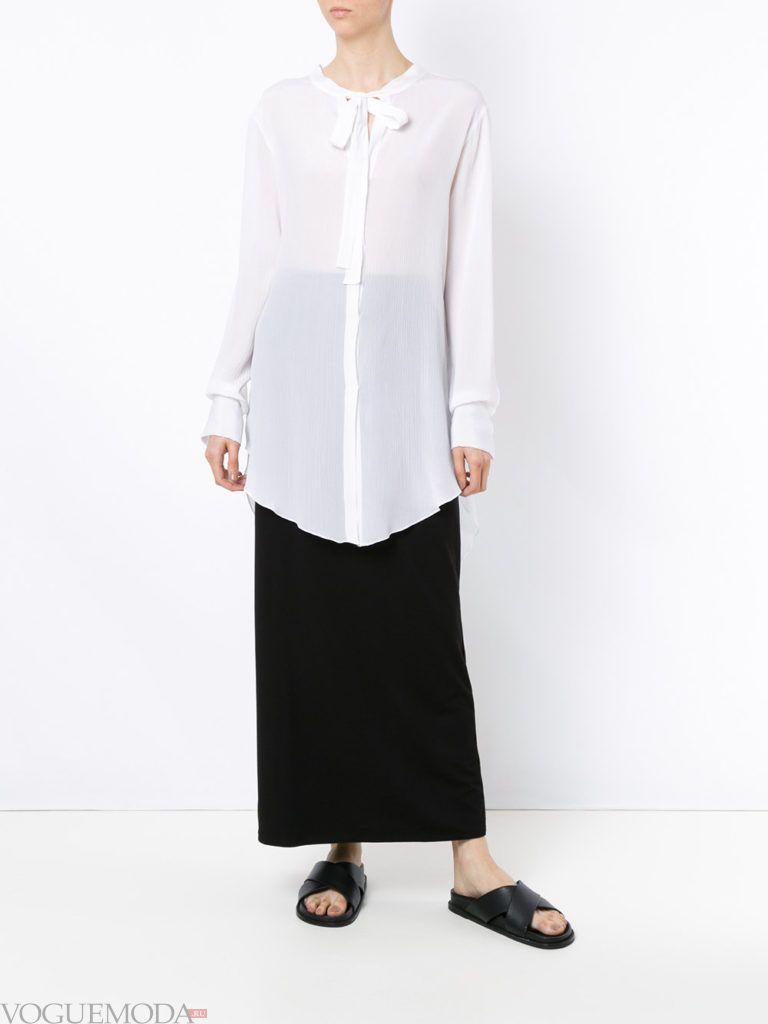 туника-рубашка с декором
