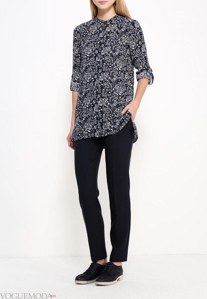туника-рубашка темная