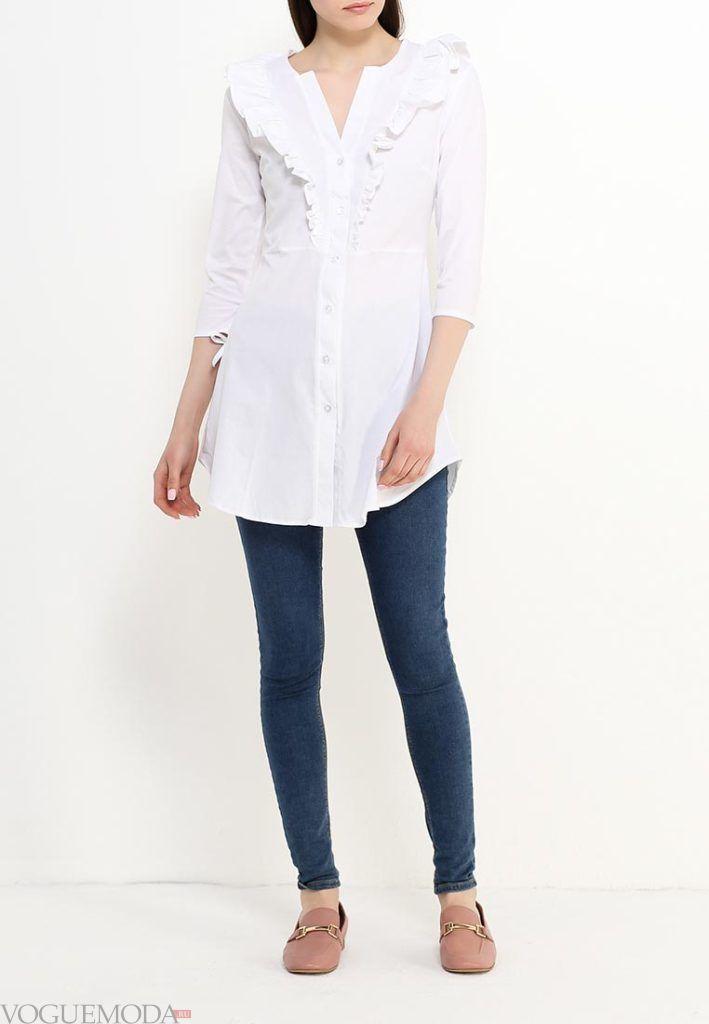 туника-рубашка светлая