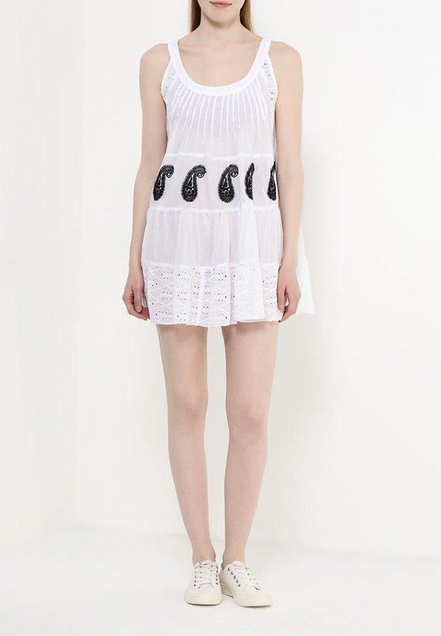 мини-платье с декором