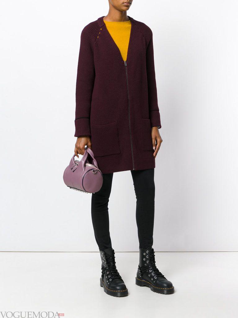 фиолетовая сумочка с пальто