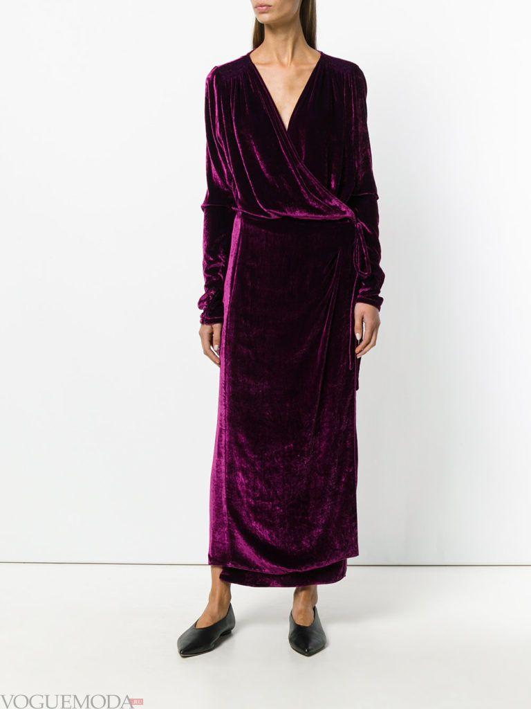 фиолетовое платье бархатное