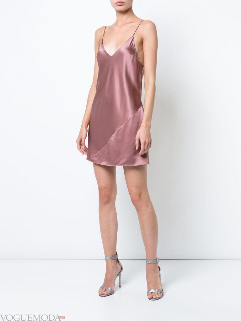 фиолетовое платье шелковое